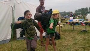 Welpen op kamperen tijdens NPK
