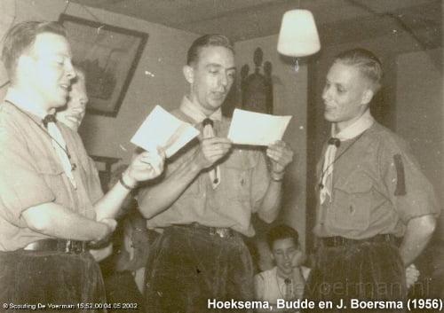 Jan Boersma (rechts), 1956 - Scoutinggroep De Voerman