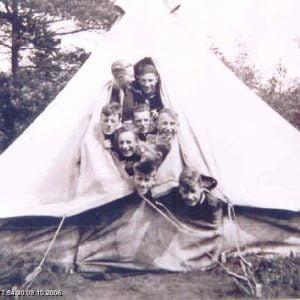 Bell-tent Endurance in gebruik door de Groene Groep