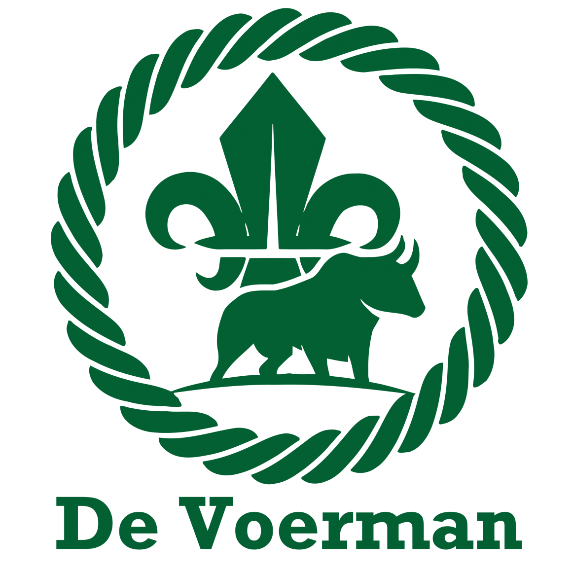 De Voerman logo 2020 met tekst - Transparant PNG