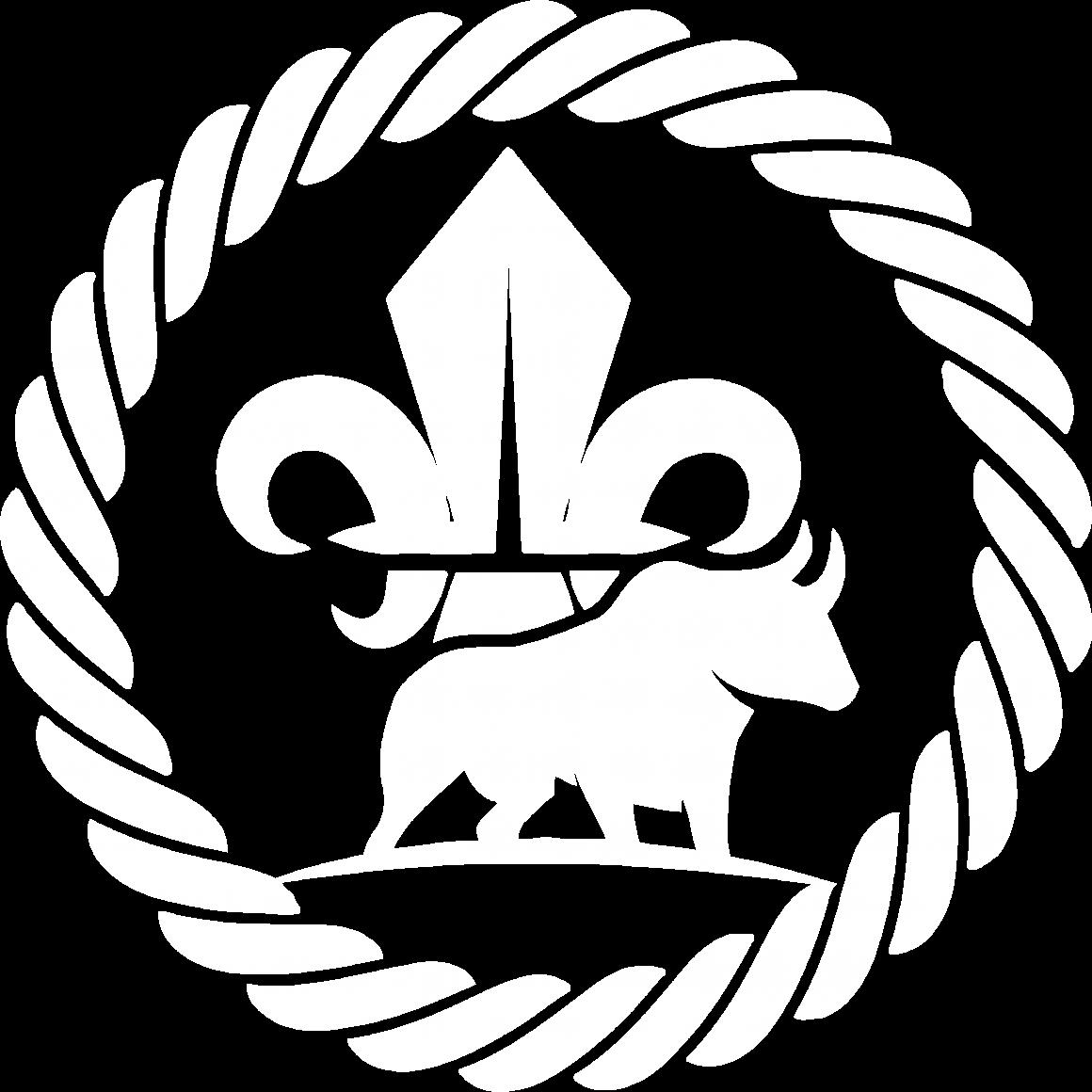 De Voerman logo 2020 - Wit met transparante achtergrond