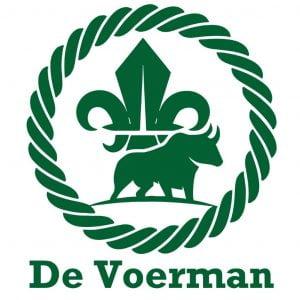De Voerman logo 2020 met tekst - witte achtergrond